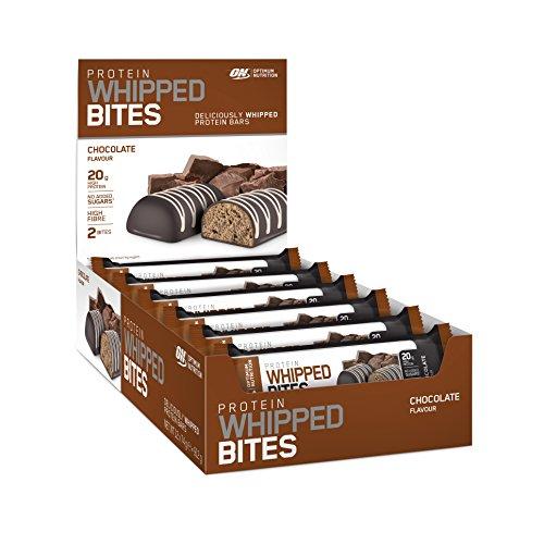 Protein Riegel mit 20g Eiweiß von Optimum Nutrition, Super softer Protein Bar, Whipped Bites der Eiweißriegel ohne Zuckerzusatz, der leckere Geschmack des Proteinriegel: Chocolate