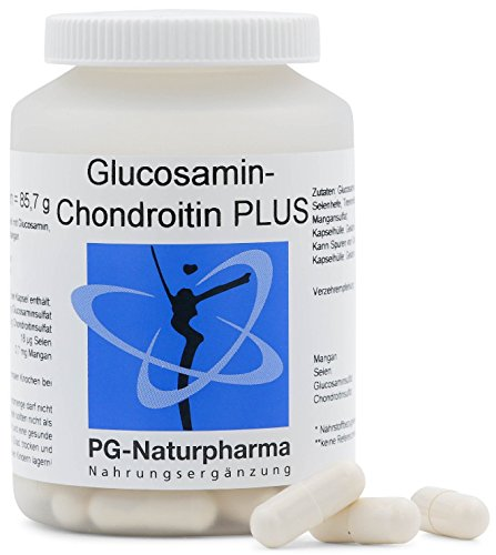 Glucosamin Chondroitin - 100 Glucosamin Kapseln mit je 500mg Glucosaminsulfat & 300mg Chondroitinsulfat - Gelenkkapseln mit Selen & Mangan - hergestellt in Deutschland