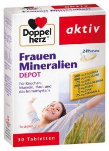 Doppelherz Frauen Mineralien 2-Phasen-Depot, 4er Pack (4 x 30 Kapseln)