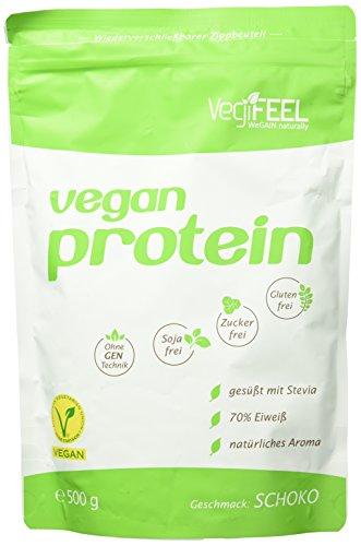 VegiFEEL Vegan Protein, Schoko, 500g Packung