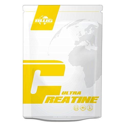 BWG 100% Ultra Creatine Monohydrat Pulver, Premiumqualität, Made in Germany, Muskelaufbau, Vegan, zur Unterstützung für Kraftsport, Bodybuilding, Ausdauer (1 x 1000g Beutel)