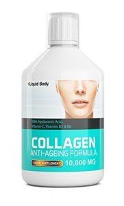 Liquid Body Kollagen 10,000mg Anti-Aging Formel – Täglicher Flüssigkeitszufuhr – Köstlich Beeren Aroma Getränk – 17 Tag Program – Hohe Absorption (Beere 500ml)