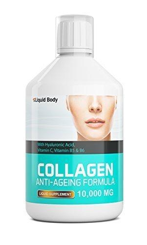 Liquid Body Kollagen 10,000mg Anti-Aging Formel - Täglicher Flüssigkeitszufuhr - Köstlich Beeren Aroma Getränk - 17 Tag Program - Hohe Absorption (Beere 500ml)