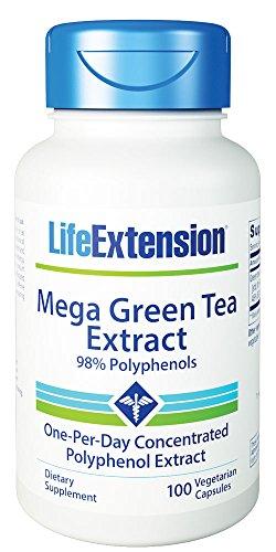 Life Extension, Mega Green Tea Extract (entkoffeiniert),  725mg, 100 Veg. Kapseln