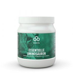 EAA Pulver, 8 essentielle Aminosäuren Leucin + Isoleucin + Valin + Lysin + Phenylalanin + Threonin + Methionin + Tryptophan + B6, leicht löslich, hergestellt in DE, 500 g
