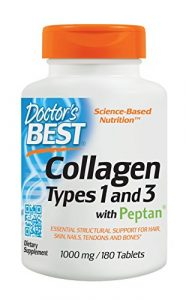 Doctor's Best, Best Kollagen Type 1 und 3 mit Peptan, 1000mg, 180 Tabletten