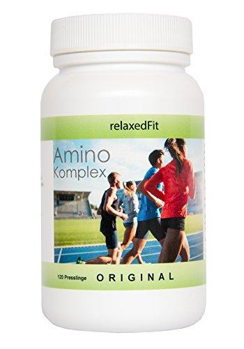 Amino Komplex - Fitnessprodukt - Made in Germany - Muskelaufbau & Diätunterstützung (2-Monatspackung (120 Presslinge))