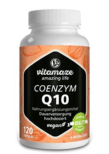 Coenzym Q10 200mg pro Kapsel vegan 120 Kapseln für 4 Monate beste Bioverfügbarkeit Premiumprodukt-Made-in-Germany ohne Trennmittel Magnesiumstearat, 30 Tage kostenlose Rücknahme!