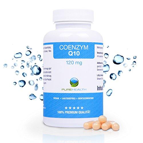 Q10 Kapseln / Junge & gesunde Haut, mehr Energie & Ausdauer / 120 mg, höchste Dosierung / 150 Kapseln, 5 Monatsvorrat / 100% vegan / Bekannt aus dem TV / Made in Germany