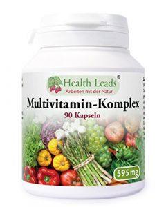 Multivitamin-Komplex 90 Kaps (100% ohne Zusatzstoffe!)