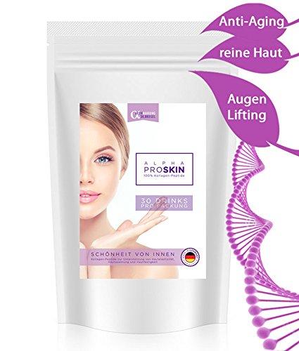 ANTI-AGING 100% KOLLAGEN-PULVER 300g ✓ BESTE Lösung gegen Haut-Falten Augen-Ringe AKNE Pickel Mitesser Cellulite ✓ hochdosiert ✓ glatte gesunde reine Haut in 30 TAGEN FALTENFREI | schöne Haut von Innen für Gesicht & Körper | Hautbild verfeinern Bindegewebe straffen Feuchtigkeits-spendend Haut-Straffung Fältchen glätten Poren verkleinern Mimikfalten & Augen-falten loswerden Gesichts-Verjüngung porenverfeinernd | klare FRISCHE junge Haut OHNE Altersflecken Hautprobleme Akne-Narben Rötungen