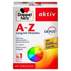 Doppelherz A-Z DEPOT Langzeit-Vitamine|Multivitamin-Nahrungsergänzungsmittel mit vielen wichtigen Vitaminen, Mineralstoffen & Spurenelementen|1 x 40 Retard-Tabletten