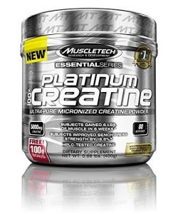 MuscleTech Platinum 100% Creatine, Ultra-Pure Micronized Creatine Powder, 80 Servings, 0.88 lbs (400g) by MuscleTech