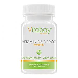 Vitamin D3 Depot 10.000 I.E. Nur eine Vegan Tablette/10 Tage (240 Vegane Tabletten)