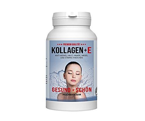 Hochreines Beauty Kollagen 600mg 100% reines Kollagen Hydrolysat 620mg MCC Vivapur (Zink,VitamineB12/E) Tagesdosis Für schöne Haut, Haare, Nägel und Bindegewebe