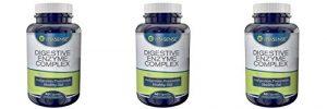 Drei Pack (Packung mit 3) Vitasense Verdauungs Enzym Komplex – Verdauungsstörungen-Prävention, gesunde Darm – 60 Kapseln