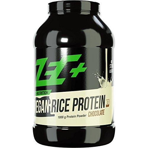 ZEC+ REIS PROTEIN SHAKE | VEGAN | qualitativ hochwertiges veganes Pflanzenprotein aus Reis | frei von Laktose und Gluten | ohne Milchbestandteile ohne Ei | ideal für Allergiker | hochdosierte essentielle Aminosäuren | mit Stevia gesüßt | Geschmack SCHOKO 1000g