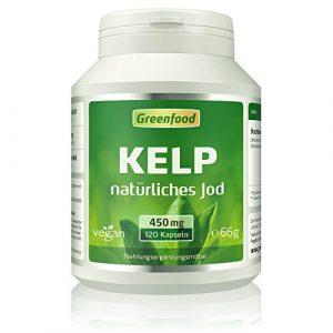 Kelp, 450 mg, 120 Vegi-Kapseln – natürliches Jod (Tagesbedarf) aus der Braunalge. Wichtig für Schilddrüse, Hormonhaushalt und Nervensystem. OHNE künstliche Zusätze, ohne Gentechnik. Vegan.
