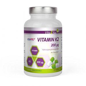 Vitamin K2 – 200µg – 365 Kapseln – Original vitaMK7® – > 99% All-Trans – Jahrespackung – Natürliches Menaquinon MK-7 – Premium Qualität – Made in Germany