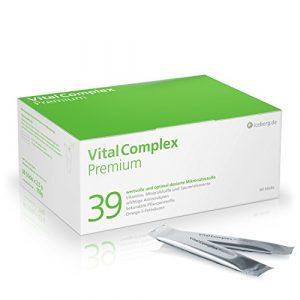 VitalComplex Premium – 39 hochdosierte Mikronährstoffe – Vitamine – effektiver Vitamin-B-Komplex – Mineralien – Aminosäuren – sek. Pflanzenstoffe – Omega 3 – Q10 – perfekt kombinierte Multivitamine