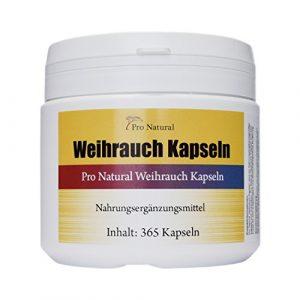 Weihrauch Kapseln hochdosiert 450mg – 365 Kapseln (vegetarisch), Weihrauchkapseln in der Dose, Boswellia als Cortison Alternative – Indischer Weihrauch