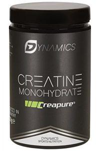 Dynamics Nutrition Creapure | Creatine Monohydrat Pulver für den Muskelaufbau | Mehr Leistung im Training | Kraftsteigerung | Hergestellt in Deutschland | Neutral | Vegan | 500g Dose inkl. Messlöffel