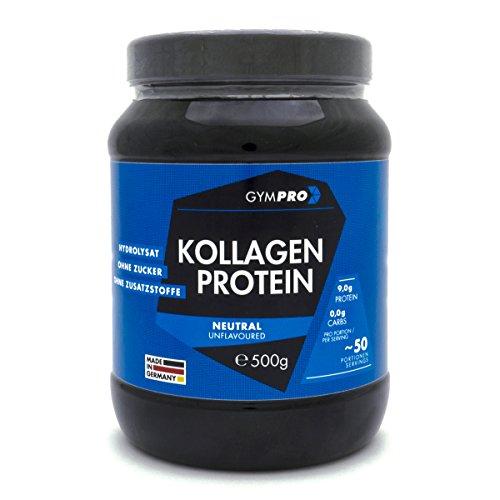 GymPro Collagen Protein Pulver 100% Kollagen Hydrolysat, laborgeprüft - 500g
