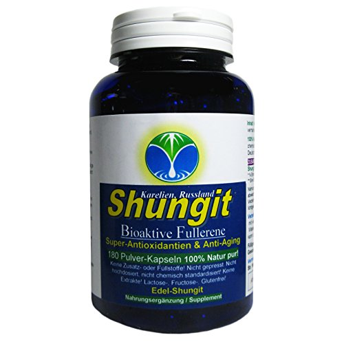 Shungit Edel-Schungit Bioaktive Lebensenergie Super-Antioxidantien & Anti-Aging Fullerene 180