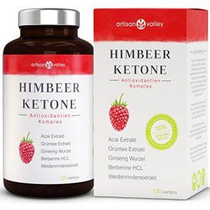 HimbeerKeton ⋅ Hochdosiert ⋅ Antioxidantien Komplex ⋅ 120 Kapseln ⋅ Reines Himbeerketon Extrakt ⋅ Deutsche Herstellung ⋅ Zufriedenheitsgarantie