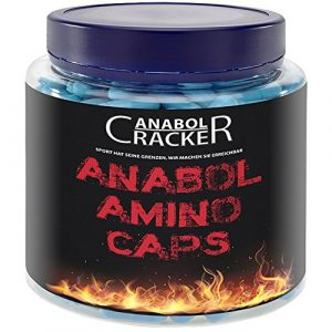 Anabol Amino Caps, 350 Kapseln Aminosäuren – Hochdosiert, schnellster Muskelaufbau – Bcaa, L-Glutamin, L-Arginin, L-Tyrosin