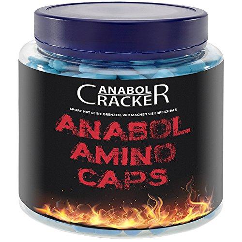 Anabol Amino Caps, 350 Kapseln Aminosäuren - Hochdosiert, schnellster Muskelaufbau - Bcaa, L-Glutamin, L-Arginin, L-Tyrosin