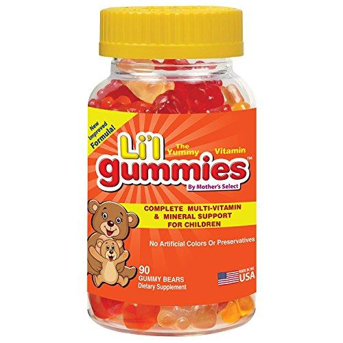 Gummibärchen für Kinder - Umfassende Vitamin- und Mineralienunterstützung für Kinder - Mother's Select Li'l Gummies Enthalten Vitamine A, C, D, E, B und mehr - Neuer verbesserter Geschmack!