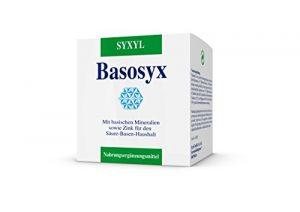 SYXYL Basosyx Tabletten – Nahrungsergänzungsmittel mit basischen Mineralstoffverbindungen & Zink für einen ausgeglichenen Säure-Basen-Haushalt – 160 Tabletten im Blister