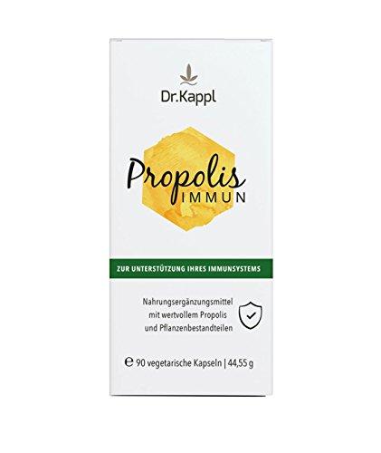 Dr. Kappl Propolis Immun | pflanzliches Nahrungsergänzungsmittel | enthält Bienenkittharz, Vitalpilze & Vitamin C | komplexes Naturprodukt zur natürlichen Stärkung des Immunsystems | hochdosierte vegetarische Kapseln mit antioxidativer Wirkung | 90 Kapseln