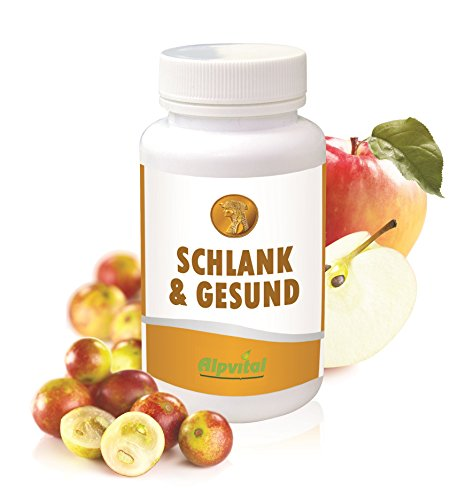 Alpvital Schlank & Gesund - Apfelessig Camu Camu Detox Diät Fettverbrennung Stoffwechsel
