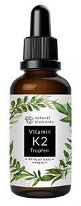 Vitamin K2 MK7 Tropfen – Einführungspreis – 50ml – 200µg pro Tagesdosis – 99,7+% All Trans – In MCT-Öl aus Kokos – Ohne unerwünschte Zusätze – Laborgeprüft, vegan, hochdosiert, flüssig und hergestellt in Deutschland