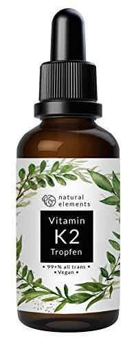 Vitamin K2 MK7 Tropfen - Einführungspreis - 50ml - 200µg pro Tagesdosis - 99,7+% All Trans - In MCT-Öl aus Kokos - Ohne unerwünschte Zusätze - Laborgeprüft, vegan, hochdosiert, flüssig und hergestellt in Deutschland
