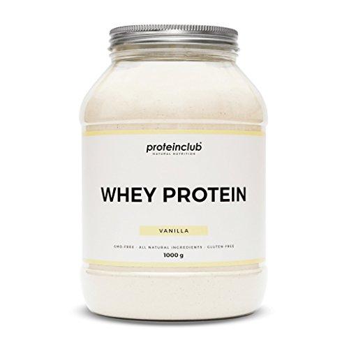 proteinclub Natural Whey Protein ohne Zusatzstoffe | Proteinpulver ohne künstliche Aromen, Farb- & Süßstoffe | Eiweißpulver gesüßt mit Stevia & Bio-Agave | Glutenfrei | Hergestellt in Deutschland | 1000g (Vanilla)