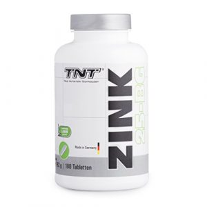 Zink Tabletten Hochdosiert für 6 Monate – Immunsystem stärken – Zink-Histidin made in Germany – 180 Tabletten