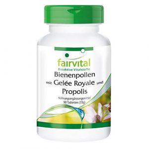 Bienenpollen mit Gelée Royale und Propolis – 90 Tabletten – Synergetische Kombination von Bienenpollen-Extrakt, Propolis-Extrakt und Gelée Royale Extrakt