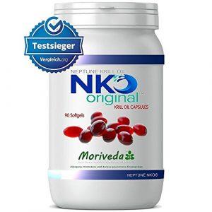 NKO Krillöl Kapseln (Testsieger) 30, 90 oder 180 Stk. in Apothekenqualität – Omega 3,6,9 Astaxanthin, Vitamin E, Choline, Phospholipide, Krill Öl (90 Softgel Kapseln)