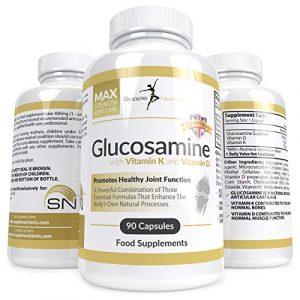 Supple Nutrients Glucosamin mit Vitamin K + D – Gelenkkapseln, starkes Bindegewebe–natürlicher Gelenkschutz, fördert Knochen und Muskeln, schmerzlindernd bei geschwollenen Gelenken