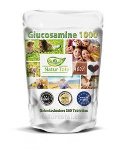 Glucosamine 1000 Gelenkschmiere 360 Tabletten Sparangebot – Garantiert Glutenfrei –