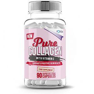 FORZA Beauty Pur-Kollagen – mit Vitamin E Kapseln, 1er Pack (1 x 90 Stück)