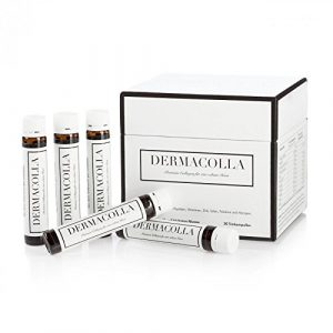 """Dermacolla 30 Trinkampullen Premium Kollagen""""Made In Germany"""", Nahrungsergänzungsmittel für eine schöne Haut von innen, Monatspackung"""