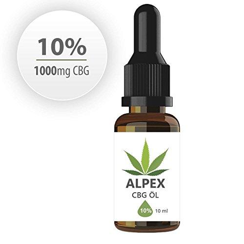 ALPEX-CBG 10% (10ml) Cannabigerol haltige Essenz CB-1 und CB-2 Aktivator