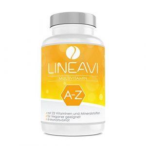 LINEAVI Multivitamin | hochdosiert mit 23 Vitaminen und Mineralstoffen von A-Z | unterstützt die normale Funktion des lmmunsystems | in Deutschland hergestellt | 120 vegane Kapseln (4-Monatsvorrat)