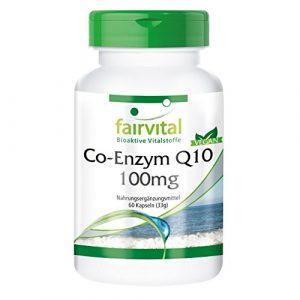 Co-Enzym Q10 100mg – für 2 Monate – VEGAN – HOCHDOSIERT – 60 Kapseln – Ubichinon