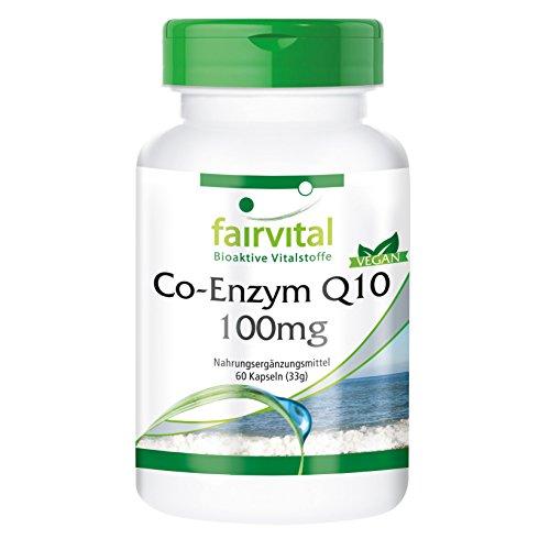 Co-Enzym Q10 100mg - für 2 Monate - VEGAN - HOCHDOSIERT - 60 Kapseln - Ubichinon