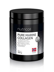 Norwegian Pure Marine Collagen Powder | Hydrolysate Peptides | Supplement for Skin, Hair, Nails, Tendons, Muscles, Ligaments | 60 portions x 5000 mg I 100 % Natural | From Sustainable Wild-Caught Fish from North Atlantic Ocean | High bioavailability | Unflavoured | No Additives | 93 % Protein | All 9 Amino Acids | Highly Absorbable | Great After-Exercise and Restitution Drink | Analysed and Always Lab Tested | 300 g